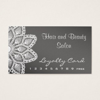 White Lace Hair and Beauty Salon Loyalty Card