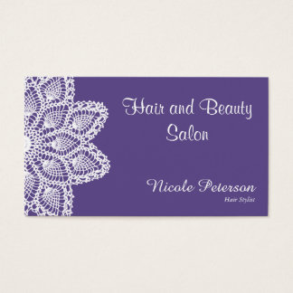 White Lace - hair and beauty salon  - Ultra Violet Business Card