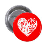 White lace heart (customisable background colour) buttons