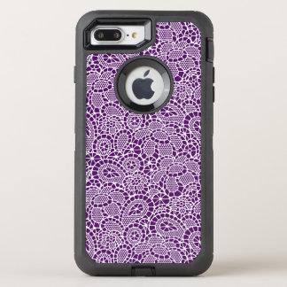 White Lace Lacy-Look Design Otter Box OtterBox Defender iPhone 8 Plus/7 Plus Case