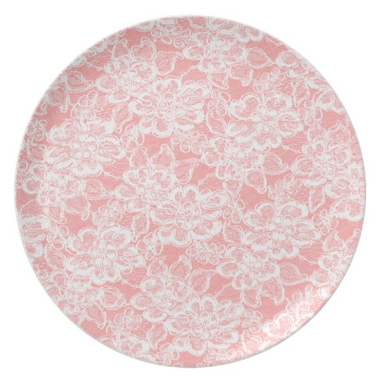 White Lace on your colour choice Plates
