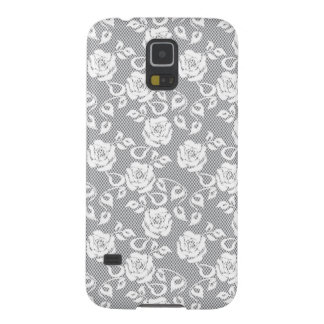 White lace pattern on gray background cases for galaxy s5
