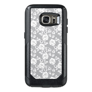 White lace pattern on gray background OtterBox samsung galaxy s7 case