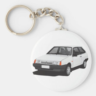 White Lada Samara | VAZ-2109 Key Ring