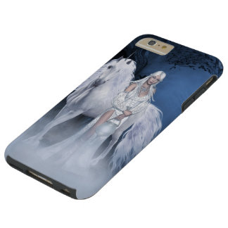 White Lady and Unicorn Tough iPhone 6 Plus Case