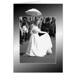 White lady. greeting card