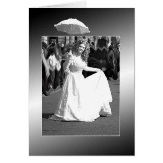 White lady. greeting card