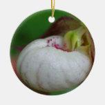 White Lady Slipper Flower Ornament