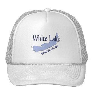 White Lake at Whitehall, Michigan Mesh Hats