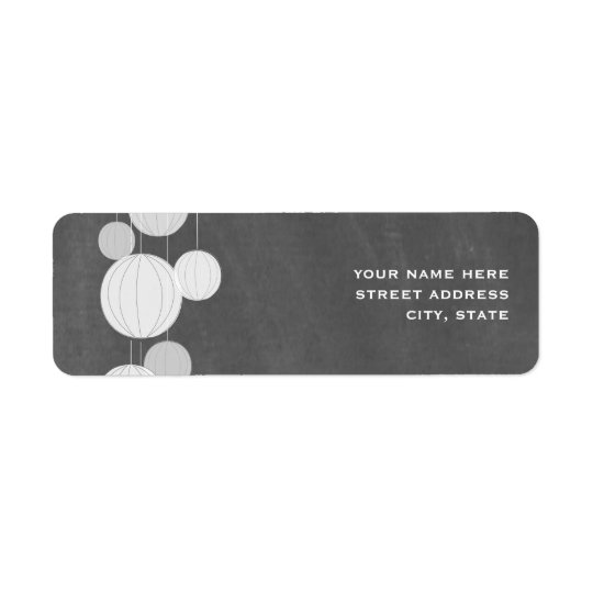 White Lanterns Chalkboard Inspired Address Label