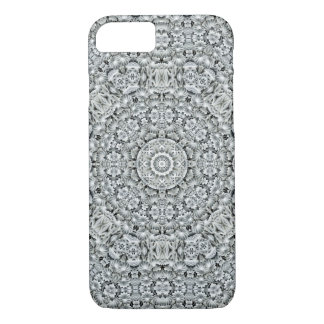 White Leaf Kaleidoscope iPhone Cases
