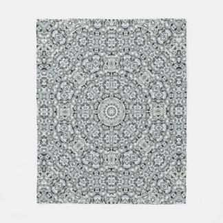 White Leaf Pattern Custom Fleece Blanket, 3 sizes