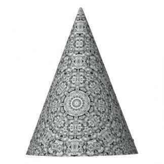 White Leaf Pattern Custom Party Hat
