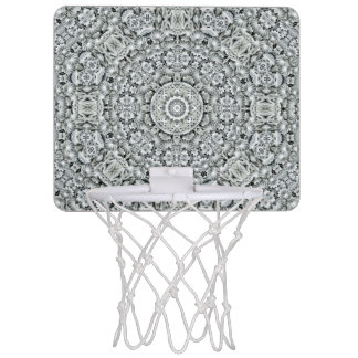 White Leaf Pattern  Mini Basketball Goal Mini Basketball Hoop