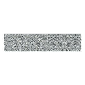White Leaf Pattern Napkin Bands