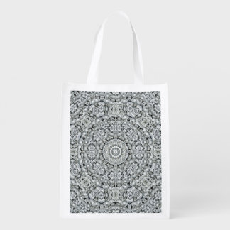 White Leaf Pattern Reusable Bag