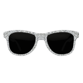 White Leaf Pattern  Sunglasses