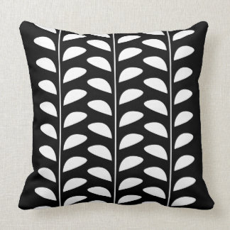 WHITE LEAF PRINT CUSHION