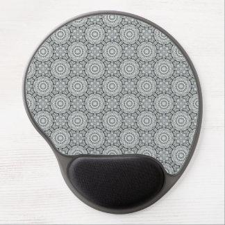 White Leaf  Vintage Kaleidoscope Gel Mousepad Gel Mouse Mat