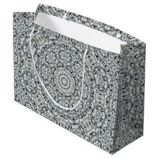 White Leaf  Vintage Kaleidoscope  Gift Bags