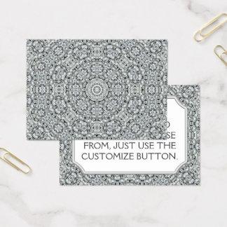 White Leaf Vintage Pattern  Business Cards