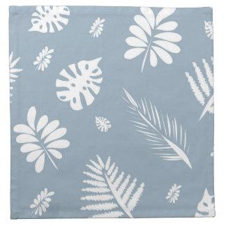 White leaves pattern napkins