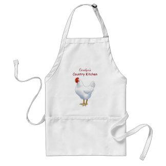 White Leghorn Chicken Hen Standard Apron