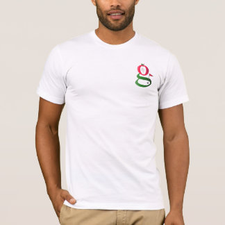 """White """"Let there be turf"""" t-shirt"""