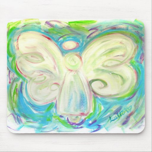 White Light Angel Mousepad
