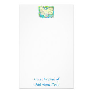 White Light Angel Stationery