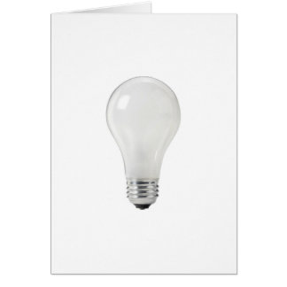 WHITE LIGHT BULB GREETING CARD