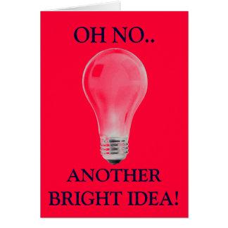 WHITE LIGHT BULB GREETING CARD