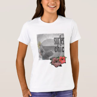 White-lilac-Island-beach-surf-Tee-for-kids T-Shirt