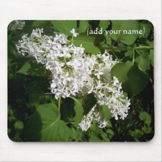 White Lilac Personalized Mouse Pad
