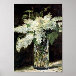 White Lilacs Poster