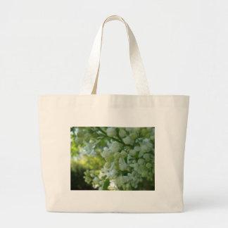 White Lilacs Tote Canvas Bag