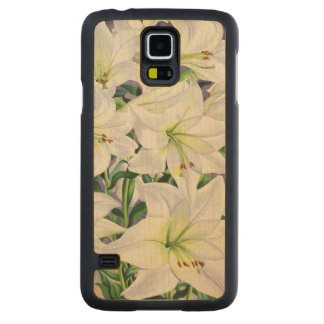White Lilies 2008 Carved Maple Galaxy S5 Case