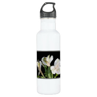 White Lilies. 710 Ml Water Bottle