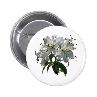 White Lilies Button