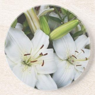 White Lilies Coasters