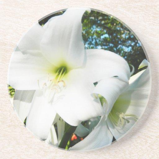 White Lilies Coaster