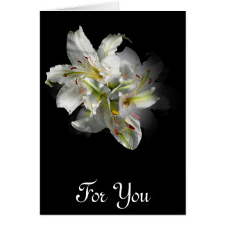 White Lilies Fantasy Greeting Card