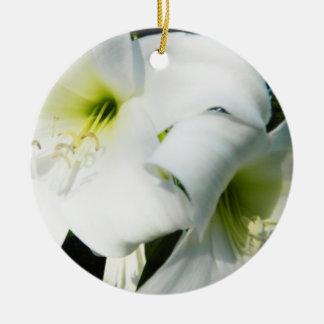White Lilies Ornament