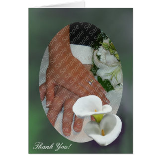 White lilies Personalized Thank You Card