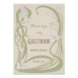 White Lilies Wedding Guestbook Sign