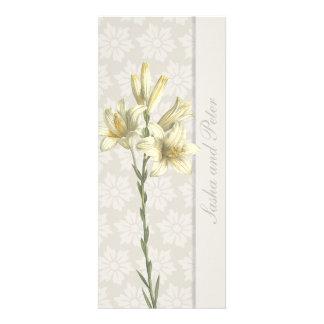 White Lillies Floral Wedding Invitation 1