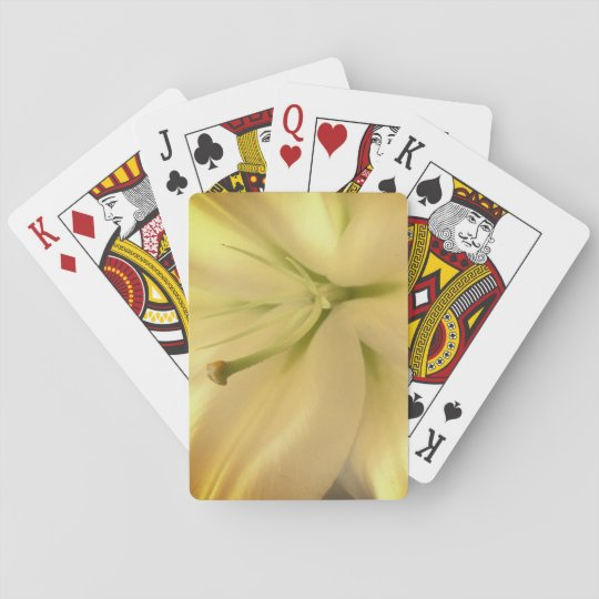 White Lillum Flower Photo Classic Playing Cards