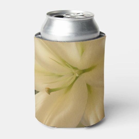White Lillum Flower Photo Custom Can Cooler