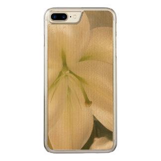 White Lillum Flower Photo  Wood Case