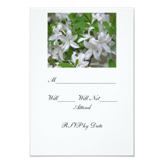 White Lilly RSVP Cards 9 Cm X 13 Cm Invitation Card